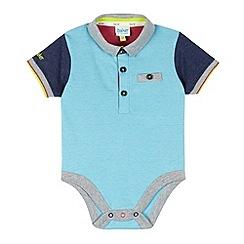 Baker by Ted Baker - Babies light blue polo bodysuit