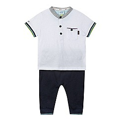 Baker by Ted Baker - Babies white top and trousers set