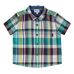 Baker by Ted Baker - Babies green multi checked shirt
