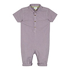 Baker by Ted Baker - Babies purple geo print shirt romper suit
