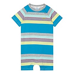 Baker by Ted Baker - Babies blue multi striped romper suit