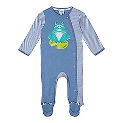 Baker by Ted Baker - Babies blue frog applique sleepsuit