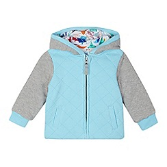 Baker by Ted Baker - Babies blue quilted hoodie