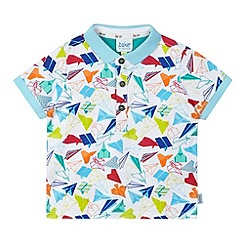 Baker by Ted Baker - Babies white graphic print polo shirt