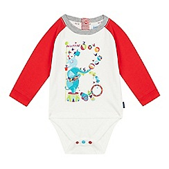 Baker by Ted Baker - Babies red circus logo print layered bodysuit