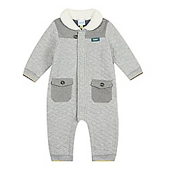 Baker by Ted Baker - Babies grey quilted all-in-one suit