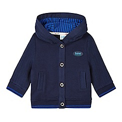 Baker by Ted Baker - Babies navy knitted sleeve sweat hoodie