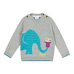 Baker by Ted Baker - Babies grey elephant jumper