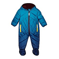 Baker by Ted Baker - Babies blue dip dye snowsuit