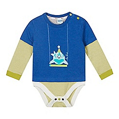 Baker by Ted Baker - Babies blue 2-in-1 seal t-shirt and bodysuit
