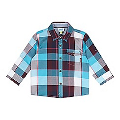 Baker by Ted Baker - Babies blue herringbone checked shirt