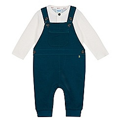 Baker by Ted Baker - Babies green top and dungarees set