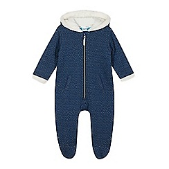 Baker by Ted Baker - Babies navy jersey lined all in one suit