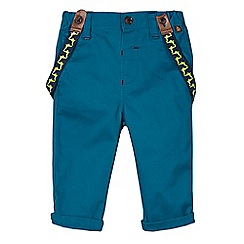 Baker by Ted Baker - Babies dark turquoise slim fit chinos with braces