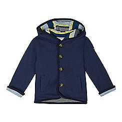 Baker by Ted Baker - Babies navy herringbone hooded cardigan