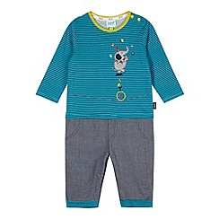 Baker by Ted Baker - Babies turquoise circus mockable romper suit