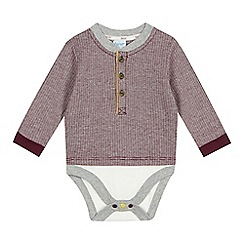 Baker by Ted Baker - Babies plum jacquard layered bodysuit