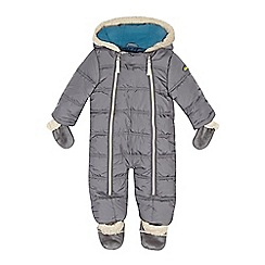 Baker by Ted Baker - Babies grey snowsuit and mittens set