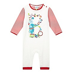 Baker by Ted Baker - Babies cream circus logo printed sleepsuit