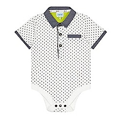 Baker by Ted Baker - Babies white mini diamond contrasting collar body suit