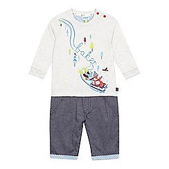 Baker by Ted Baker - Baby boys' cream woodland animal romper suit