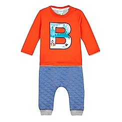 Baker by Ted Baker - Baby boys' orange top and bottoms set