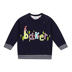 Baker by Ted Baker - Baby boys' navy logo sweat top
