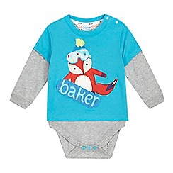 Baker by Ted Baker - Baby boys' blue fox bodysuit