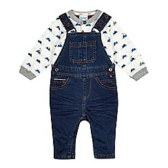 Baker by Ted Baker - Baby boys' blue snowmobile print top and dungaree set