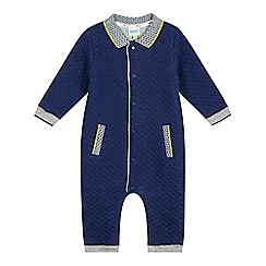 Baker by Ted Baker - Baby boys'navy quilted romper suit