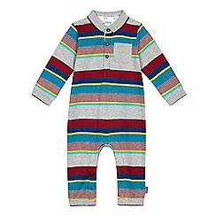 Baker by Ted Baker - Baby boys'grey striped romper suit