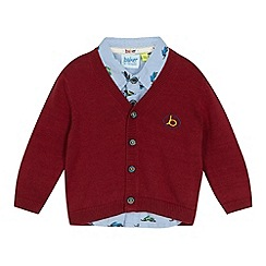 Baker by Ted Baker - Baby boys' red shirt and cardigan set
