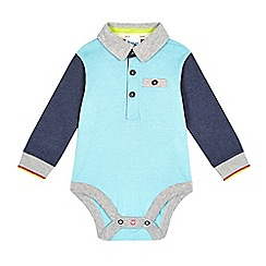 Baker by Ted Baker - Baby boys' blue polo body suit