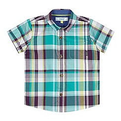 Baker by Ted Baker - Boy's green multi checked shirt