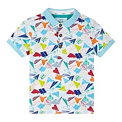 Baker by Ted Baker - Boy's white aeroplane polo shirt