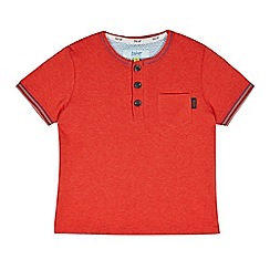 Baker by Ted Baker - Boy's red ribbed henley t-shirt