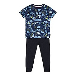 Baker by Ted Baker - Boy's blue paper planes printed t-shirt and jogging bottoms set