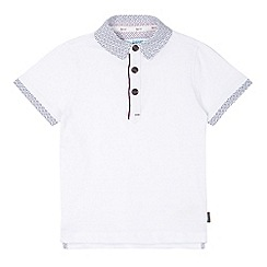 Baker by Ted Baker - Boy's white textured striped polo shirt