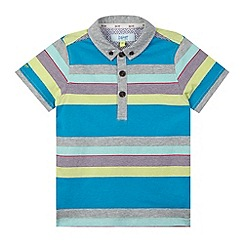 Baker by Ted Baker - Boy's grey striped polo shirt