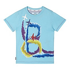 Baker by Ted Baker - Boy's light blue aeroplane logo t-shirt