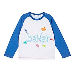 Baker by Ted Baker - Boy's white long sleeved graphic print top