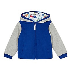 Baker by Ted Baker - Boy's blue French ribbed sweat hoodie