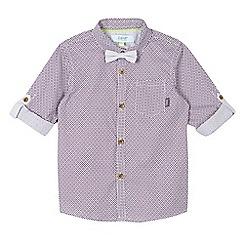 Baker by Ted Baker - Boy's plum geo shirt and bow tie