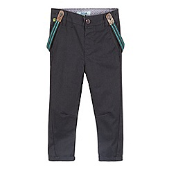 Baker by Ted Baker - Boy's grey chinos and braces