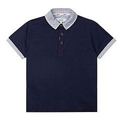 Baker by Ted Baker - Boy's navy textured polo shirt
