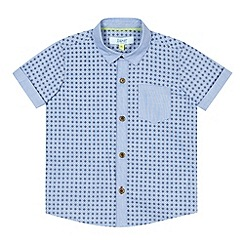 Baker by Ted Baker - Boy's blue geometric woven shirt