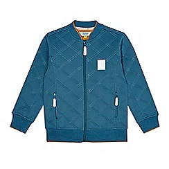 Baker by Ted Baker - Boy's dark turquoise quilted bomber jacket