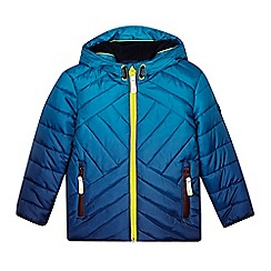 Baker by Ted Baker - Boy's blue dip dye padded coat