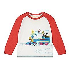 Baker by Ted Baker - Boy's white train graphic raglan top