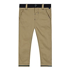 Baker by Ted Baker - Boy's natural herringbone slim chinos